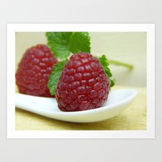 Raspberry Close Up - Cafe or Kitchen Decor Art Print