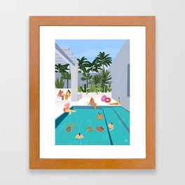 Pool oasis Framed Art Print