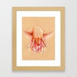 Into the rose Framed Art Print