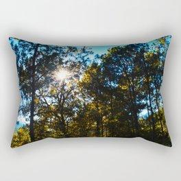 Sun Peeking Through Trees Rectangular Pillow
