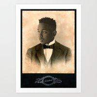 kendrick lamar Art Prints featuring Kendrick Lamar by Oliver Shilling