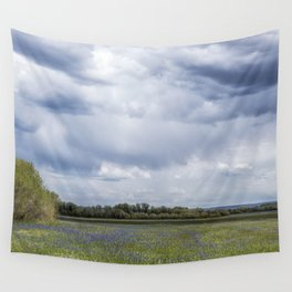 Field of Camas and Dandelions, No. 2 Wall Tapestry