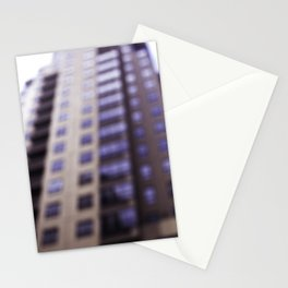 Losing Focus in Downtown Seattle Stationery Cards