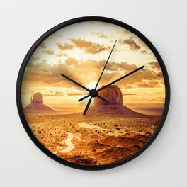Monument Valley Sunrise Wall Clock
