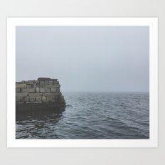 Foggy Cove Art Print