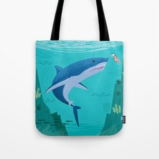 The Shark and The Sea Horse Tote Bag