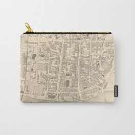 Vintage Map of Perth Scotland (1851) Carry-All Pouch