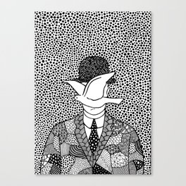 Man in a bowler hat. Magritte Canvas Print