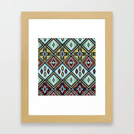 NATIVE AMERICAN PRINT Framed Art Print