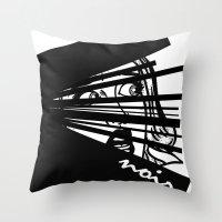 noir Throw Pillows featuring Noir by Ryan Bradford
