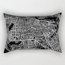 Amsterdam Black Map Rectangular Pillow