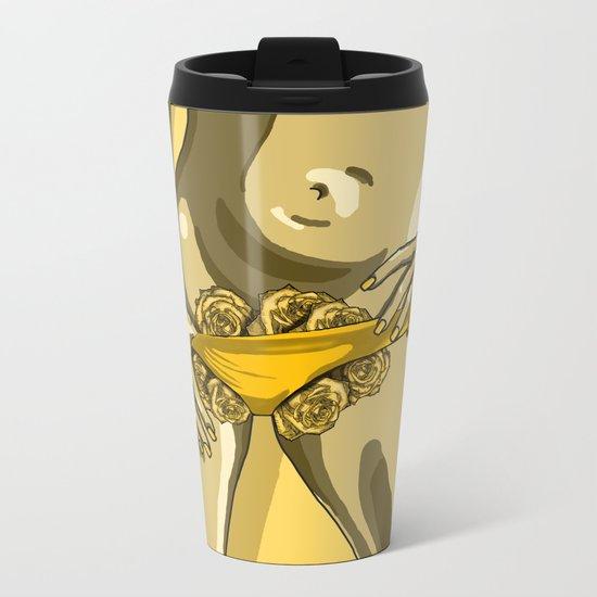 Rose Bush  Metal Travel Mug