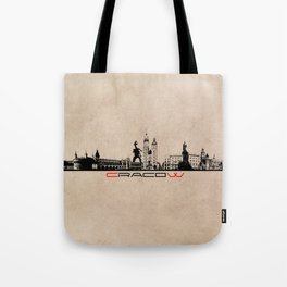 Cracow city skyline  Tote Bag