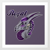 royal Art Prints featuring Royal by dewking