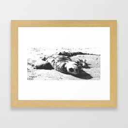 Dearly departed Framed Art Print