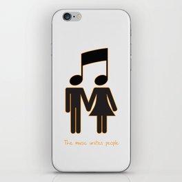 The music unites people iPhone Skin