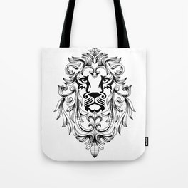Heraldic Lion Head Tote Bag
