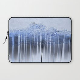 Shredded Abstract in Blue Laptop Sleeve