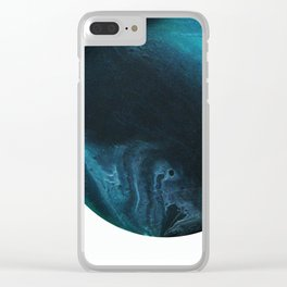 Green Smoke on White Clear iPhone Case