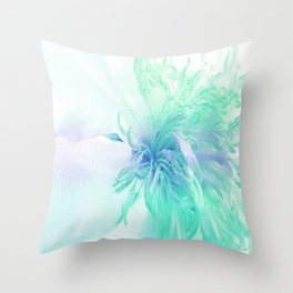 White Peony In A Different Light Throw Pillow