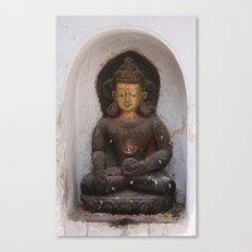 Swayambhunath Golden Buddha Canvas Print