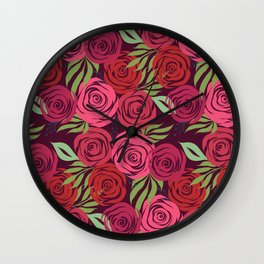 A Thousand Roses  Wall Clock