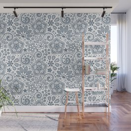 Foral in Slate Wall Mural