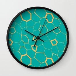 Hex pattern Wall Clock