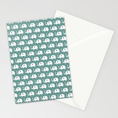 Elephants in love (turquoise) Stationery Cards