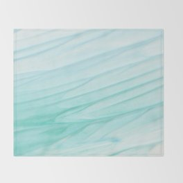 Seawall-blue and white Throw Blanket