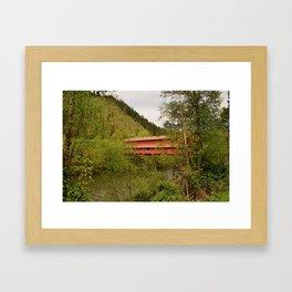 Office Covered Bridge - Westfir, Oregon Framed Art Print