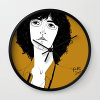 melissa smith Wall Clocks featuring Patti Smith by Le Butthead