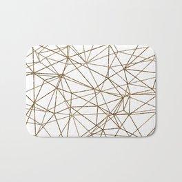 Geometric triangles glitter pattern. Modern stylish texture. Gold trendy glitter print background Bath Mat