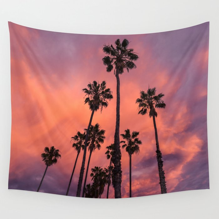 Palm Trees and Sunset Wall Tapestry
