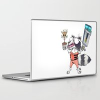 rocket raccoon Laptop & iPad Skins featuring Rabid Rocket by ShayMacMorran