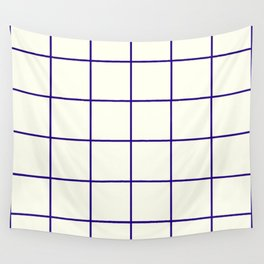 Window Panes, Navy and Cream Wall Tapestry