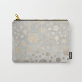Champagne Gold Dots Pattern on Old Metal Texture Carry-All Pouch