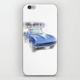 Vintage Blue Vette iPhone Skin
