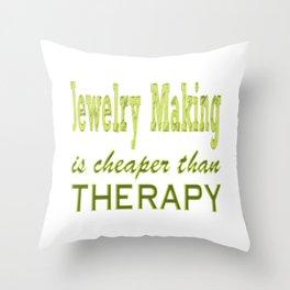 Jewelry Maker Throw Pillow