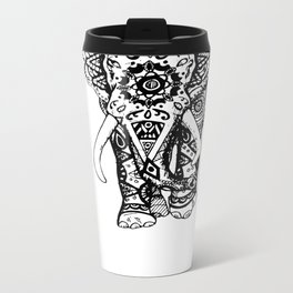 Psychedelic Elephant  Metal Travel Mug