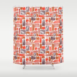 Watercolor Geometric Pattern Shower Curtain