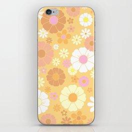 Groovy 60's Mod Pastel Flower Power iPhone Skin