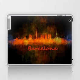 Barcelona City Skyline Hq _v4 Laptop & iPad Skin