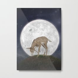 Night Deer Metal Print