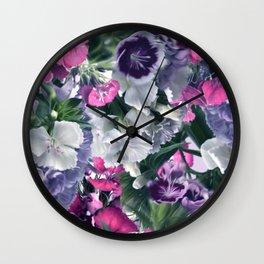CLAVELES AZULES Wall Clock