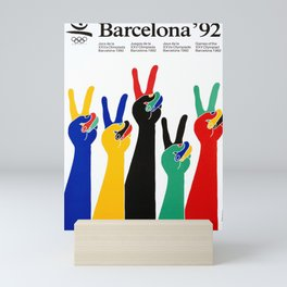 affiche barcelona 92 olympic games Mini Art Print