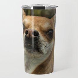 Four eyed Chihuahua?! Travel Mug