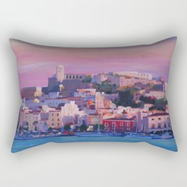 Ibiza Eivissa Old Town and Harbour Pearl of the Mediterranean Rectangular Pillow