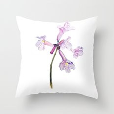 Flowers of the tree *Handroanthus sp* Throw Pillow