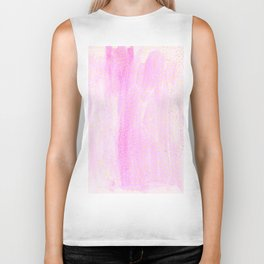 pink pastel with golden dots Biker Tank